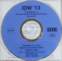 International Display Workshops 2013 proceedings on CD-ROM